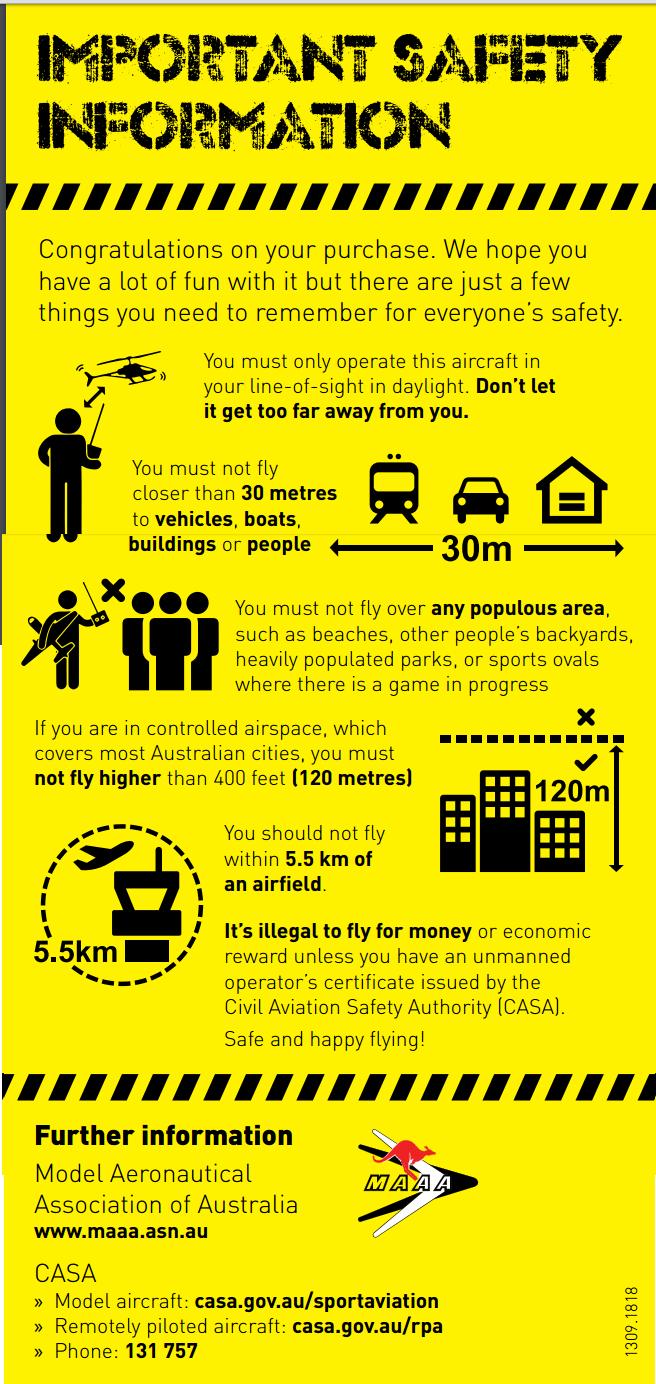 CASA drones rules